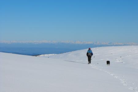 Margeride. Monts Lozère. Gardille. Lozère. Randonnées. Raquettes à neige. Voyages. Massif Central. Chiloe. www.chiloe-voyage.fr - Claude Molinier