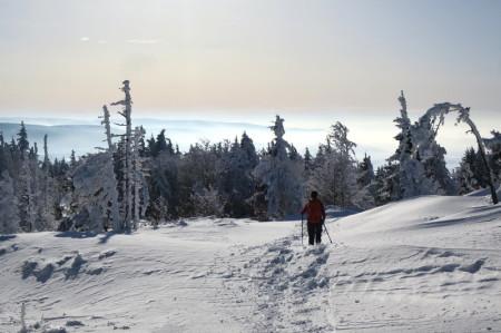 Margeride. Lozere. Randonnées raquettes à neige. Voyages organisés. Chiloé. www.chiloe-voyage.fr