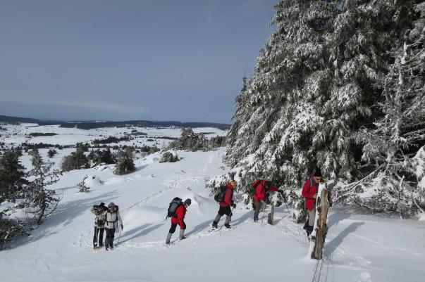 Margeride. Lozère. Chiloé. Randonnées. Séjours. Voyages. Raquettes à neige. www.chiloe-voyage.fr. Massif Central. Europe